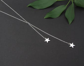 Silver Shooting Stars Necklace - Hypoallergenic Stainless Steel Chain - Minimalist and Sophisticated!