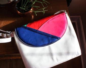 Bright 80s satchel bag