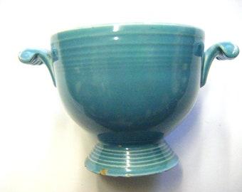 Vintage 1940's Turquoise Fiesta Sugar Bowl
