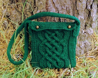 Braided Cable Pouch Knitting Pattern PDF