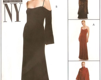 McCall's NY NY The Collection vintage sewing pattern - coat and evening dress