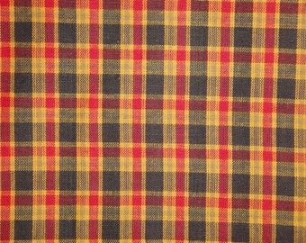 Homespun Material | Plaid Material | Home Decor Material | Rag Quilt Material | Cotton Craft Material | Doll Making Material
