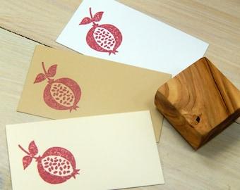Chunky Pomegranate Olive Wood Stamp