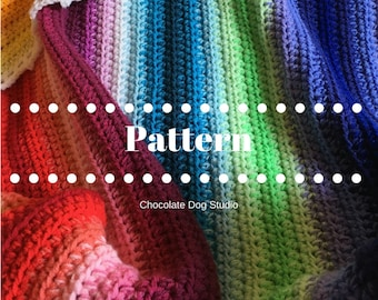 Sunshine and Shadows crochet blanket pattern-an intermediate crochet afghan pattern