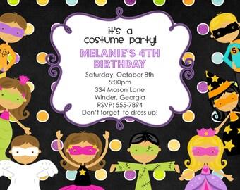 Costume party invite Etsy