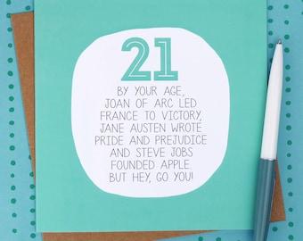 21st Birthday Card - Funny birthday cards - funny 21st card - funny 21st birthday card - birthday card 21