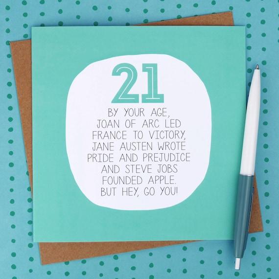 21. Geburtstagskarte Lustige Geburtstag Karten Lustige 21