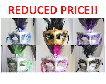 Masquerade, Mardi Gras, Just the Mask, Venetian, Costume, overthetopcaketopper, Must Go, Going Out of Business, Bulk, Lot, Package, Craft