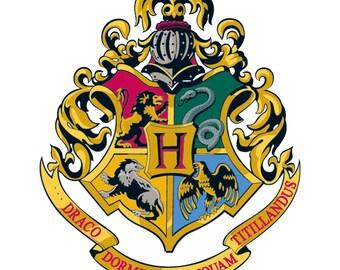 Hogwarts Crest Cross Stitch Pattern, Hogwarts Cross Stitch Pattern, Harry Potter Cross Stitch Pattern, Pdf Format, Instant Download