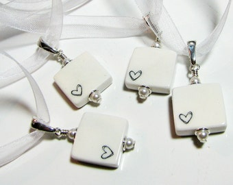 4 Wedding Bridal Bouquet Charms,  Mini Memorial Photo Charms - BC4x4