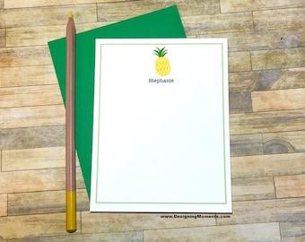 Personalisierte Grußkarten Ananas - benutzerdefinierte danke Karten - Ananas Briefpapier - stationäre - Kinder Briefpapier - Karten DM229