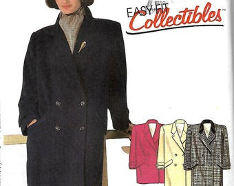 McCall's 2180 Misses Double-Breasted Coat Or Car Coat Pattern, Size 8, UNCUT