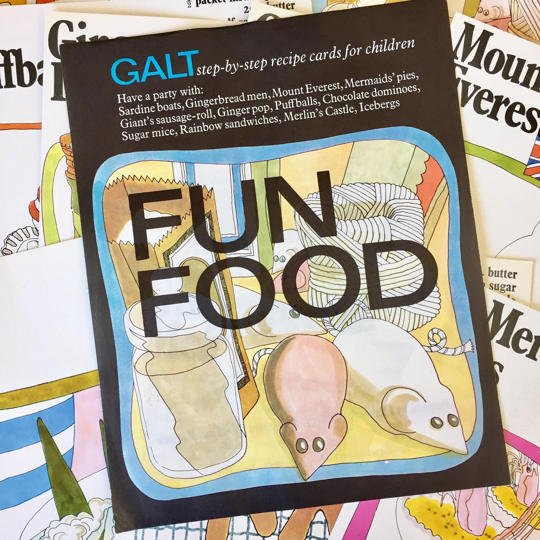 Spaß Essen Galt Schritt für Schritt-Rezept-Karten für Kinder
