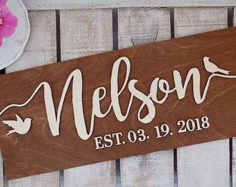 3D Last Name Sign | 3D Wedding Established Sign | Family Name Sign | Wedding Family Name Sign | Wedding Name Sign | Wedding EST Sign