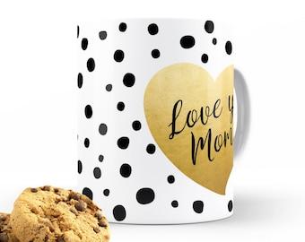 Love ya mom | Unique Mug, Coffee Mug, Kids Mug, Milk Mug, Office Mug, Lover Gift Mug, Chai Mug, Morning | Mocha & Coco
