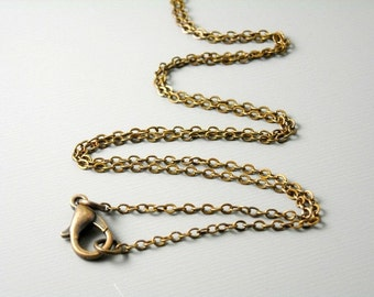 CHAIN-C-FT-2X1.7 - High Quality Antique Copper Plated Brass Necklace, 2mm x 1.7mm - choose your length