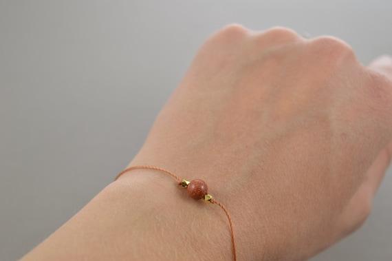 Goldstone Bracelet, gemstone bracelet, friendship bracelet, best friend gift, minimalist jewelry, best friend bracelet, beaded bracelet