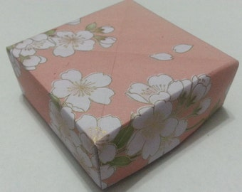 Set of 5 Different Washi Floral Patterns Origami Masu Boxes