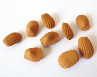 20 x miniature greedy Artisanales Madeleines 6 mm (S)