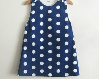 Girl's dress , child's dress , baby dress  , cotton dress , french dress