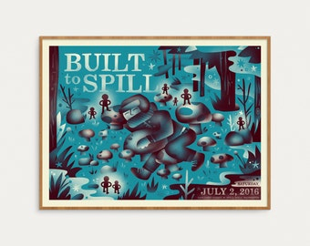 Built To Spill - Forest Sleeper Poster - Official Gig Poster - 18x24