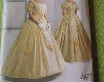 SIMPLICITY 2881 Misses Civil War Full Skirt Costume Dress Gown The Museum Curator Sewing Pattern sz 16 18 20 22 24 UNCUT