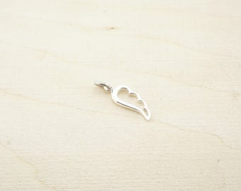 Sterling Silver Angel Wing Charm - Sterling Silver Wholesale - Wholesale Sterling Silver Charms - Large Sterling silver wing