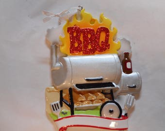 BBQ Grill Personalized Christmas Ornament