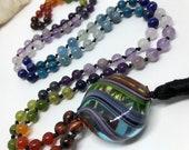 Murano Glass Rainbow Mala...