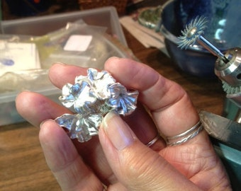 Broach: one of a kind, organic to sterling
