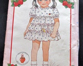 Girls Dress Pattern #6405 Strawberry Shortcake