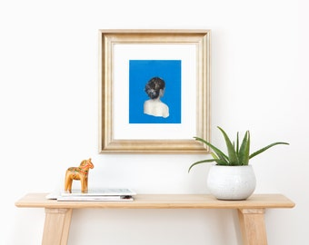Blue .  giclee art print available in all sizes