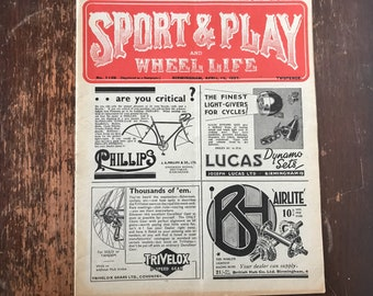 1937 Cycling Magazine Sport & Play and Wheel Life Vintage