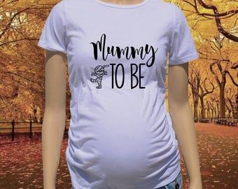 Halloween Maternity Shirt - Mummy To Be