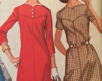 Missers Plus grootte A-Line jurk McCalls 2194
