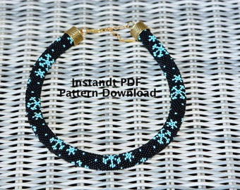Bead Crochet Pattern, PDF Tutorial, Bead Crochet Necklace & Bracelet Pattern, Instant Download, Crafter's Gift, DIY Gift