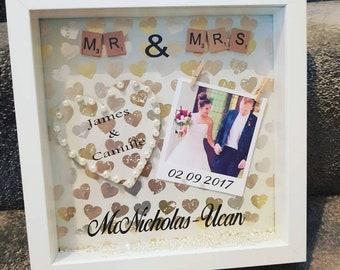 Gorgeous wedding gift, wedding, photo frame, Personalised