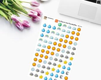 MINI Kawaii Weather Stickers CAM00129