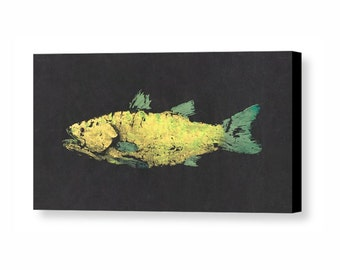 SNOOK Canvas Wall Art - Gyotaku - Fish Print -  Fish Rubbing