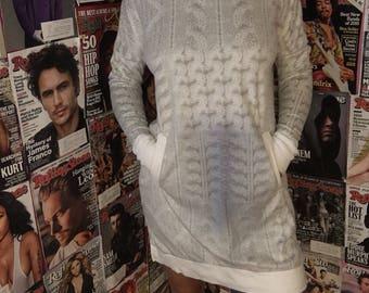 Plush hoodie dress
