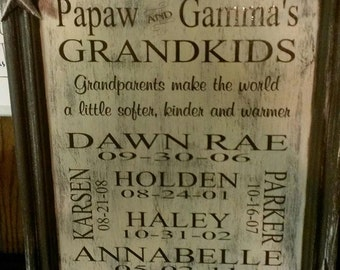 Grandparent Plaque, Wall Plaque, Wooden Family Signs, Mothers Day Gift