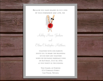 Baseball Wedding Invitations, RSVP's, Reception Insert w/ FREE Calendar Stickers