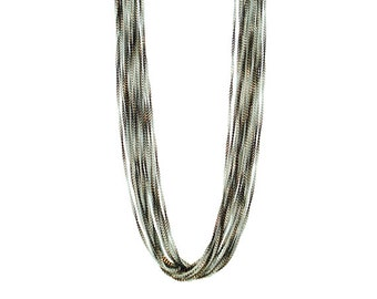 Ombre Chain Long Necklace