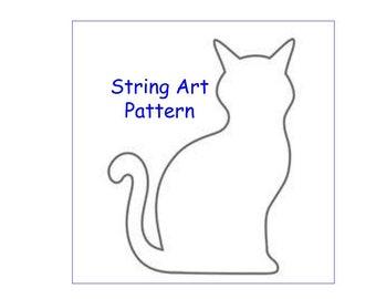 string art pattern, cat pattern, string art, diy string art pattern, string art cat pattern, cat string art pattern, diy cat string art