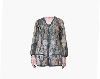 Coogi Sweater Authentic Real Coogi of Australia Vintage Biggie's Sweater Women's V Neck Long Tunic Cardigan Medium
