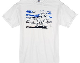 Walk in the Park Dinosaur T-Shirt white 100% cotton dinosaur t-rex and friends
