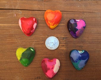 Heart Crayons Favors 10-25 bags- Valentines Party Favors- Class Valentines