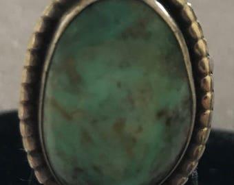Vintage Sterling Mint Color Turquoise Ring