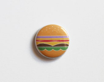 "1"" Cheeseburger Pinback Button"