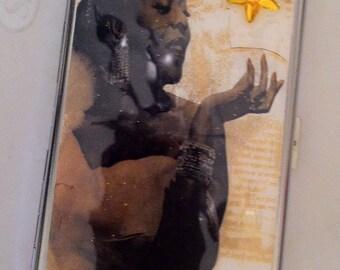 Dinah Washington Mirror Tissue Cigarette Case Business Credit Card Holder